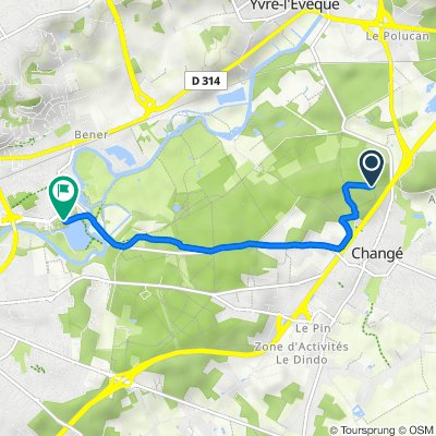 Itinéraire vers 2 Rue du Lac, Le Mans