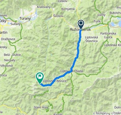 Ružomberok - Liptovská Osada - Liptovské Revúce - Vyšná Revúca - Zelená dolina