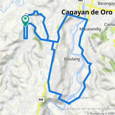 Bangkal Street, Cagayan de Oro City to Kalantas Street, Cagayan de Oro City