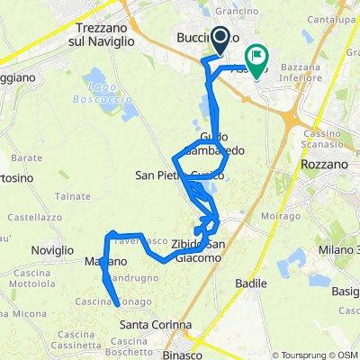Da Via Antonio Meucci, Buccinasco a Via Sardegna 3, Assago