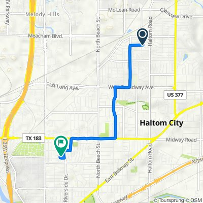 5009 Sabelle Ln, Haltom City to 3021 Selma St, Fort Worth