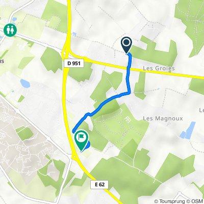 De 215 Route des Colombiers, Mignaloux-Beauvoir à Route des Sachères, Mignaloux-Beauvoir