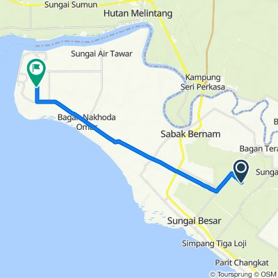 Route to Jalan Seri Jaya, Bagan Nakhoda Omar