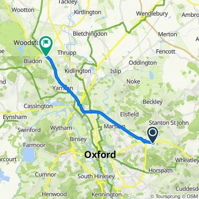 London Road, Headington, Oxford to Woodstock Road, Begbroke, Woodstock