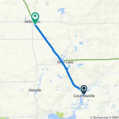 Southern Links Trailway, Columbiaville to 8655 Gleason St, Millington