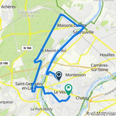 De 49bis Avenue du Belloy, Le Vésinet à 27 Route de la Faisanderie, Le Vésinet