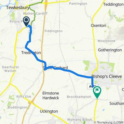 Tewkesbury Bypass, Tewkesbury do Hyde Lane, Bishops Cleeve, Cheltenham