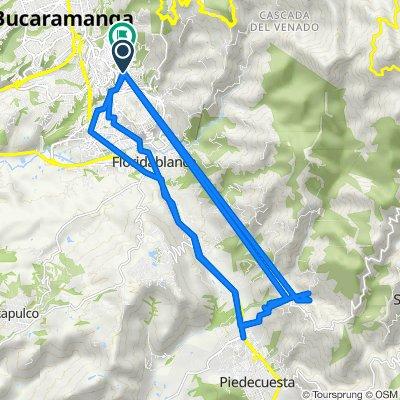 De Calle 108 4508, Floridablanca a Calle 102 4240, Bucaramanga