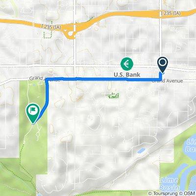 3031 Grand Ave, Des Moines to 200–216 45th St, Des Moines