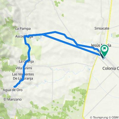 De Calle 48 1155, Colonia Caroya a Avenida San Martín 1079, Colonia Caroya