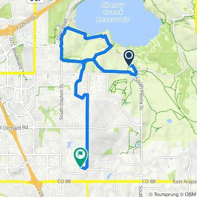 Route to 6485 S Havana St, Englewood