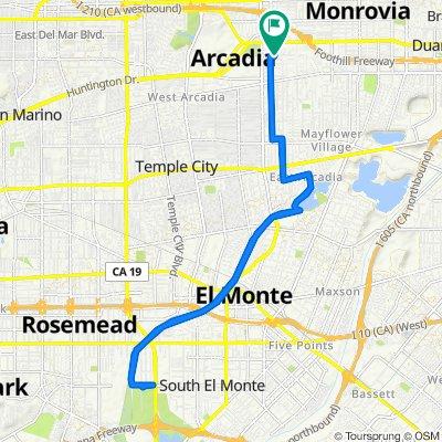 122 California St, Arcadia to 125 California St, Arcadia