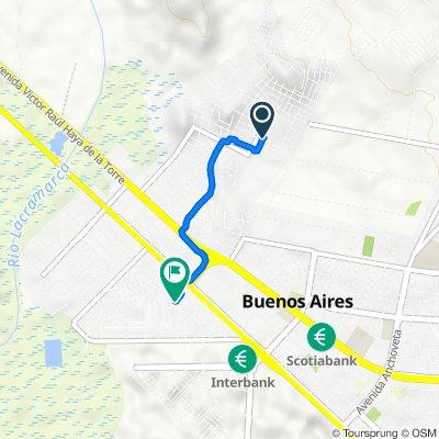 Del ovalo del p.pao, Chimbote a el colegio las brisas, Chimbote