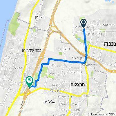 Lev Hapark to Hertzeliya train station