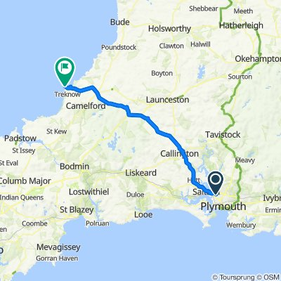 Route from 15 Abbotsbury Way, Plymouth