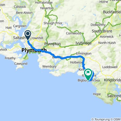Route from 19 Abbotsbury Way, Plymouth