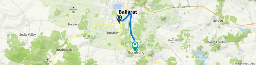 1 Spencer Street, Sebastopol to 502 Forest Street, Buninyong