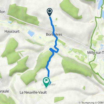 Itinéraire vers 14 Rue des Tilleuls, La Neuville-Vault