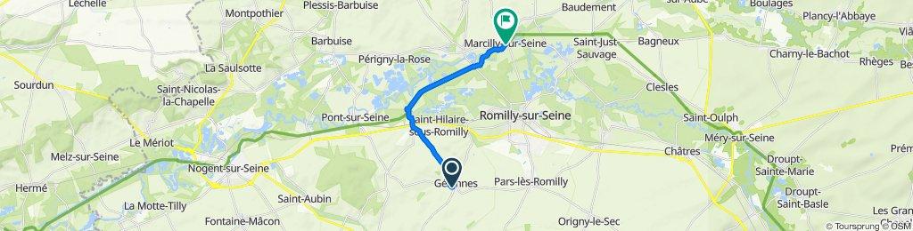 De 18 Rue Jules Mirand, Gélannes à Route de Romilly, Marcilly-sur-Seine