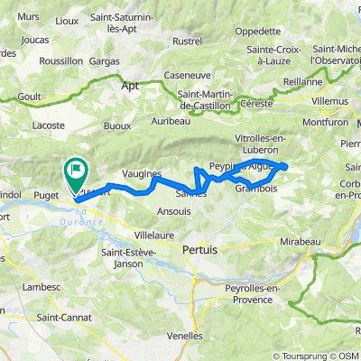 De Chemin des Huguenots 415, Lauris à Chemin de la Marquette 584, Lauris