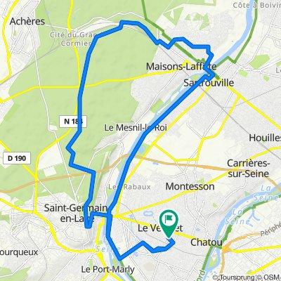 De 53bis Rue Henri Cloppet, Le Vésinet à 15 Avenue du Général de Gaulle, Le Vésinet