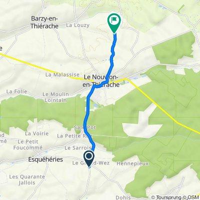 De 2 Route du Grand Wez, Esquéhéries à 2–28ter Rue de Beaucamp, Le Nouvion-en-Thiérache