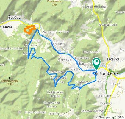 Ružomberok - horáreň Bystré / Bystrý potok - Hrabovká dolina
