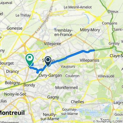 De Allée du Jura, Sevran à 32 Rue de Dijon, Aulnay-sous-Bois