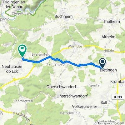 Haslerhofweg 13, Sauldorf nach Museumsbahnstraße, Neuhausen ob Eck