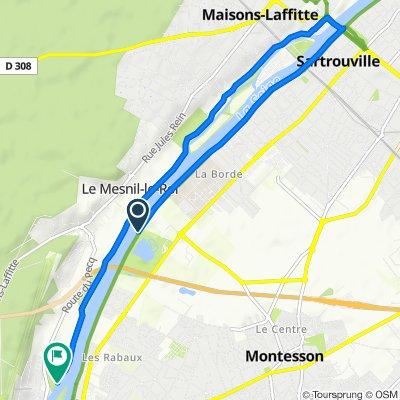 Itinéraire vers 28 Route de Carrières, Le Pecq