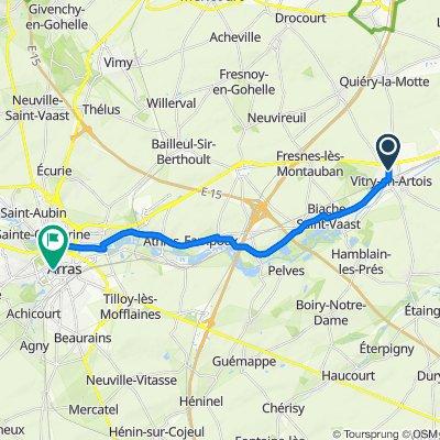 De 38 Rue de la Grande Chapelle, Vitry-en-Artois à 7 Rue des Louez Dieu, Arras
