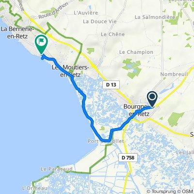 De 224 Zone Artisanale Les Jaunins, Bourgneuf-en-Retz à 20 Rue de la Baie, La Bernerie-en-Retz