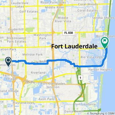 SW 16th St, Plantation to 2901 E Las Olas Blvd, Fort Lauderdale