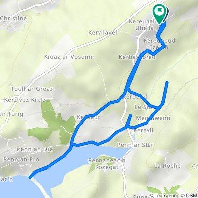 De 219 Route de Kereuneut Izella, Plougastel-Daoulas à 209 Route de Kereuneut Izella, Plougastel-Daoulas