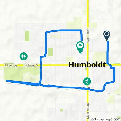 917 Fourth St, Humboldt to 909 Ninth St, Humboldt