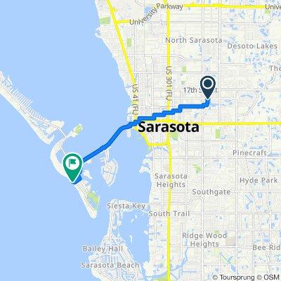 Villagio Cir, Sarasota to 354–394 Benjamin Franklin Dr, Sarasota