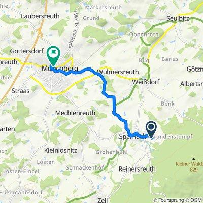 Schartenweg 6, Sparneck nach Kirchplatz 6, Münchberg
