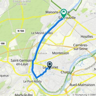 De 1–13 Place de l'Église, Le Vésinet à 15 Rue Jean Racine, Sartrouville