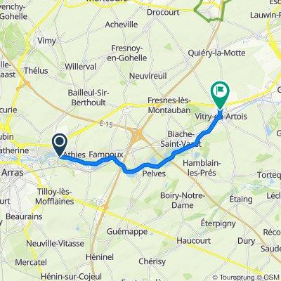 Itinéraire vers 38 Rue de la Grande Chapelle, Vitry-en-Artois