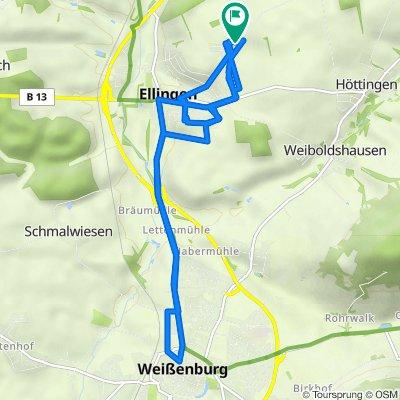 Von-Roggenbach-Straße 17, Ellingen nach Von-Roggenbach-Straße 19, Ellingen