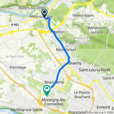 De 56 Avenue Marcel Perrin, Méry-sur-Oise à 45 Rue René Benay, Herblay