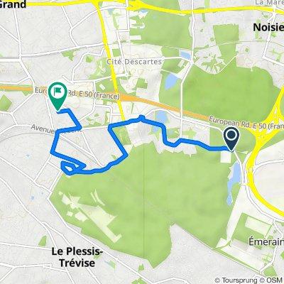 De 4 Boulevard du Clos de l'Aumône, Emerainville à 11 Avenue de l'Avenir, Noisy-le-Grand