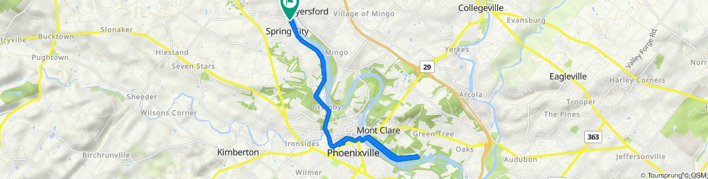 Riverside Drive 208, Spring City to Riverside Drive 208, Spring City