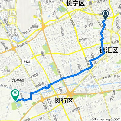 Route from Kaixuan Road No.2050, Shanghai