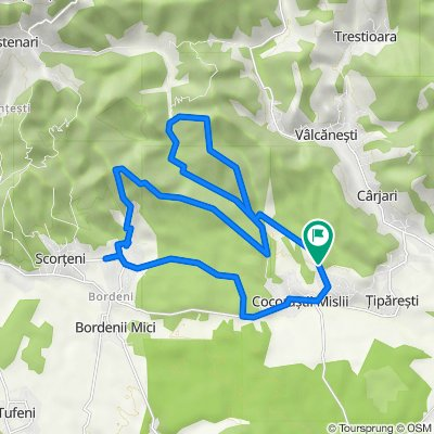Traseu MTB Bordeni - Goruna #prin padure + asfalt