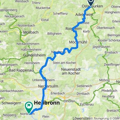 Osterburken nach Nordheim Variante 2