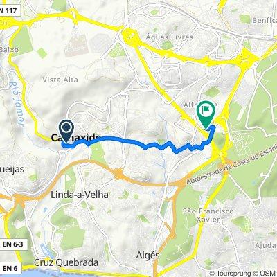 Rua Norberto Lopes 4–8, Carnaxide to Acesso à Estrada Nacional 117, Alfragide