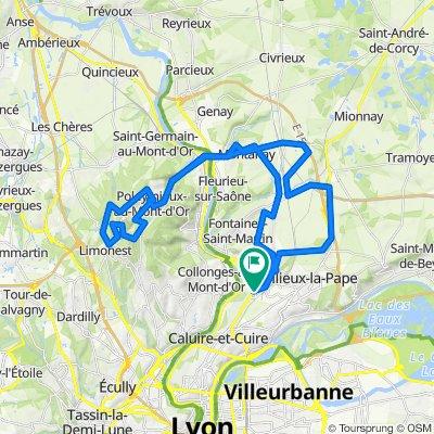 De 34 Avenue du Camp, Fontaines-sur-Saône à 2bis Avenue des Bruyères, Fontaines-sur-Saône