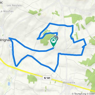 De 1 Chemin du Bois de Garenne, Mérignac à 4 Rue du Château, Mérignac