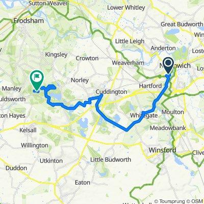 De 1–57 Lee Dr, Northwich a Ashton Road, Norley, Frodsham